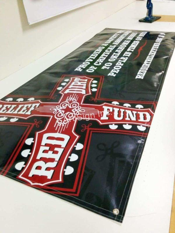 Full-color vinyl banner